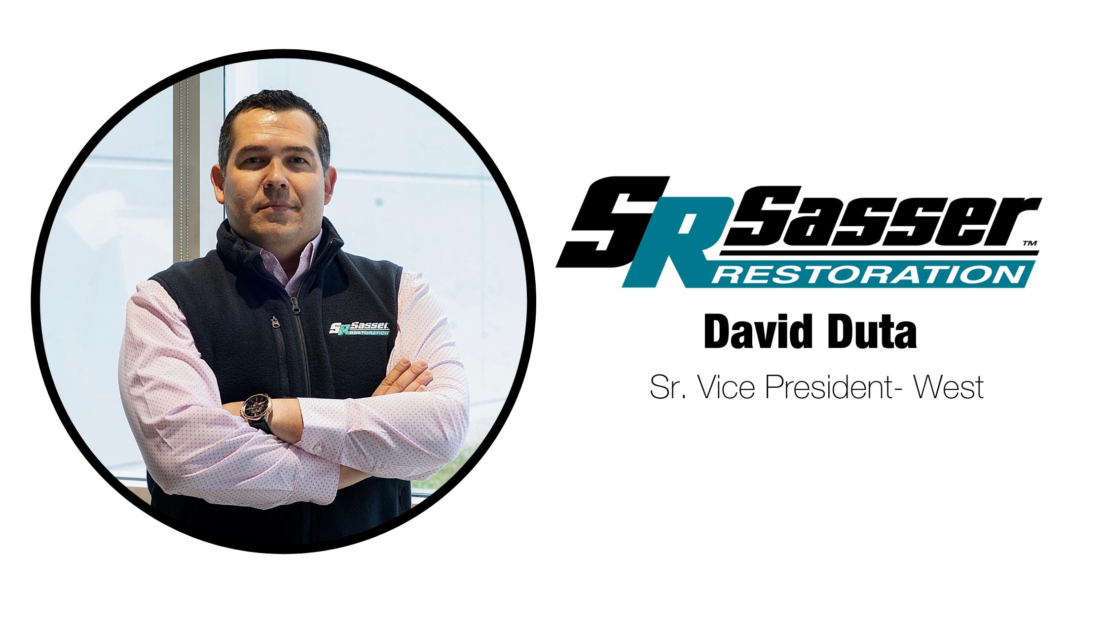 Sasser Restoration Welcomes David Duta as Senior Vice President- West